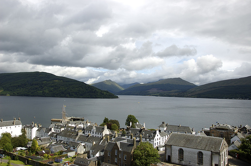 The view from the top of Inveraray Bell Tower